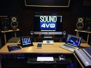 male voice over studio